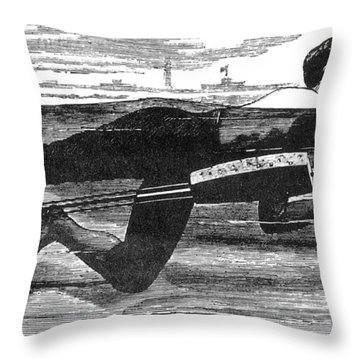 Richardsons Swimming Device 1880 Throw Pillow by Science Source