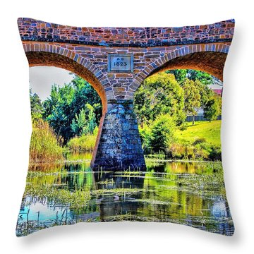 Throw Pillow featuring the photograph Richmond Bridge by Wallaroo Images