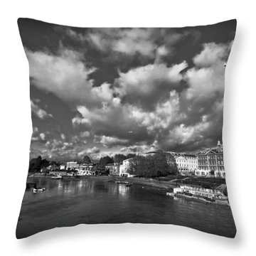 Richmond Riverside Throw Pillow by Maj Seda