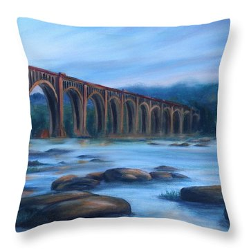 Richmond Train Trestle Throw Pillow