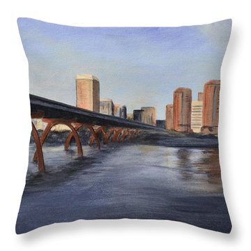 Richmond Virginia Skyline Throw Pillow