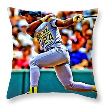 Rickey Henderson Throw Pillow