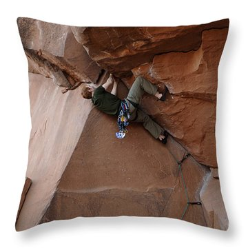 Riddle Of The Rock Throw Pillow by Bob Christopher