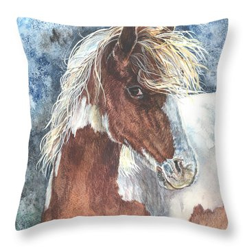Pinto Pony Throw Pillow