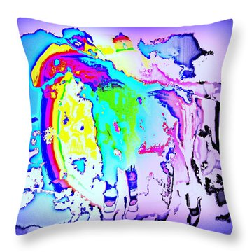 If You Can't Ride A Rainbow  Throw Pillow