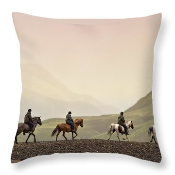 Ride Into My Mind Throw Pillow