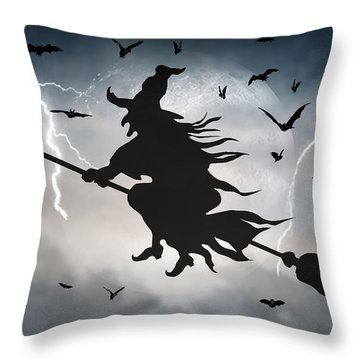 Ride Like Lighting Throw Pillow by Brian Wallace