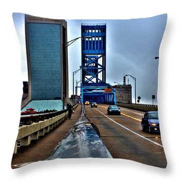 Throw Pillow featuring the photograph Ride The Rail by Tyson Kinnison