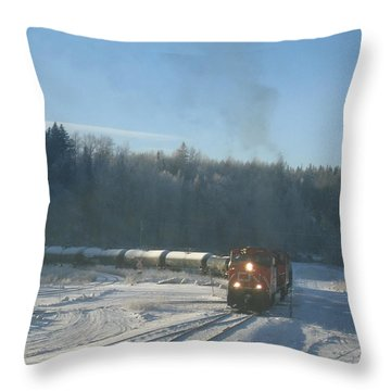 Ride The Rails Throw Pillow