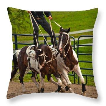 Ride Them Cowboy Throw Pillow by Karol Livote