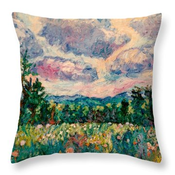 Ridge Light Throw Pillow by Kendall Kessler