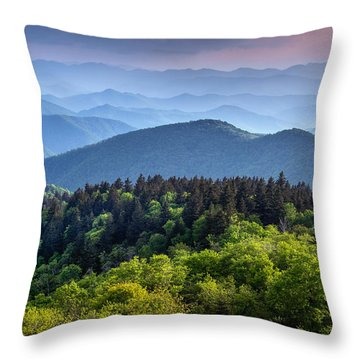 Ridges At Sunset Throw Pillow