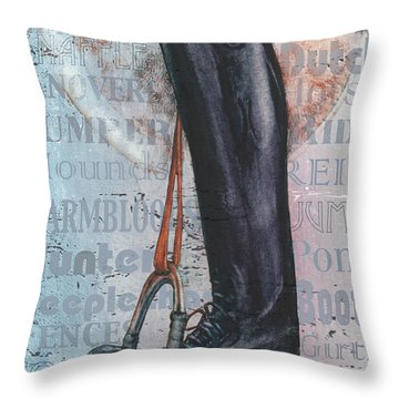 Riding Boot  Throw Pillow