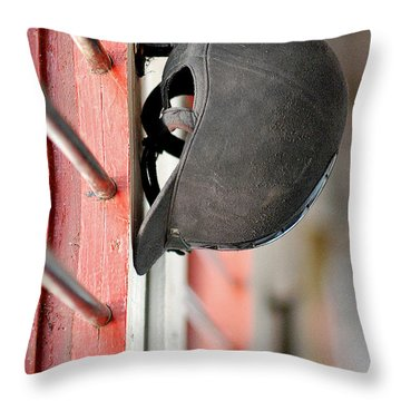 Riding Helmet Throw Pillow by Lisa Phillips