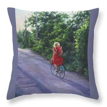 Into The Sunset Throw Pillow by Connie Schaertl