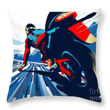 Riding On The Edge Throw Pillow