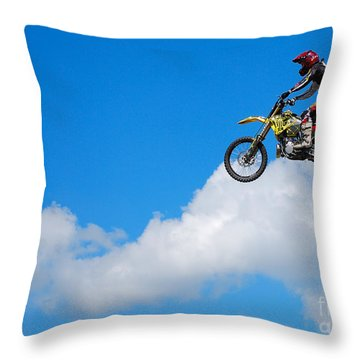 Riding The Clouds Throw Pillow