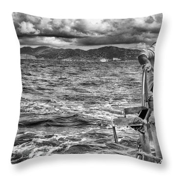 Throw Pillow featuring the photograph Riding The Crest Of The Wave by Howard Salmon