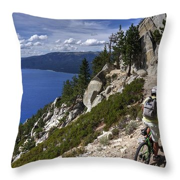 Riding The Flume Trail Throw Pillow
