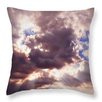 Riding The Invisible Throw Pillow by Glenn McCarthy Art and Photography