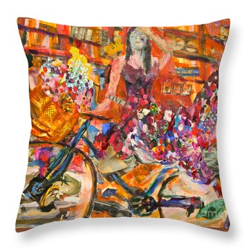 Riding Through Life Throw Pillow