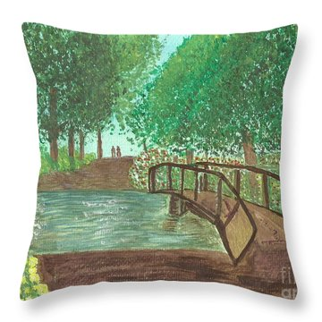 Throw Pillow featuring the painting Riding Through The Woods by Tracey Williams