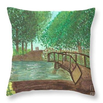 Riding Through The Woods Throw Pillow