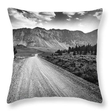 Riding To The Mountains Throw Pillow