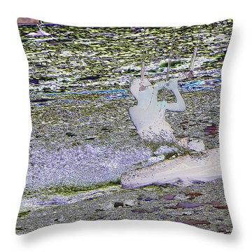 Riding With The Wind Throw Pillow by Jeff Swan