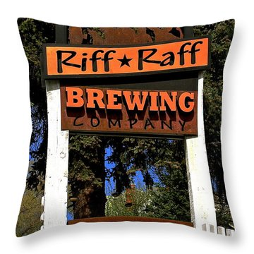 Riff Raff Brewing Throw Pillow