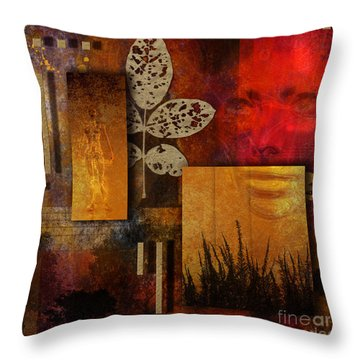 Rift Throw Pillow by Nola Lee Kelsey