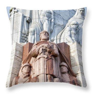 Riga Freedom Monument 02 Throw Pillow by Antony McAulay