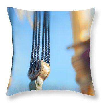 Rigging I Throw Pillow by Marianne Campolongo