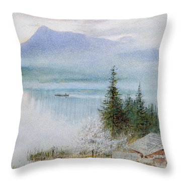 Righi Throw Pillow by Albert Goodwin