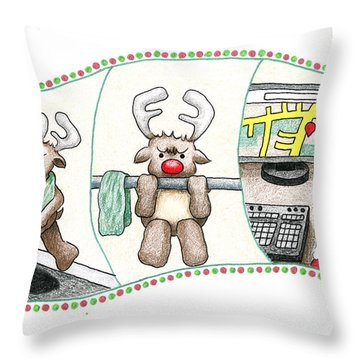Right Before X'mas Throw Pillow by Keiko Katsuta
