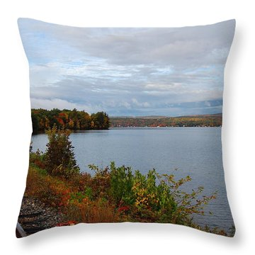 Throw Pillow featuring the photograph Right Side Of The Track by Mim White