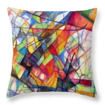 Righteous Step 4  Throw Pillow by David Baruch Wolk