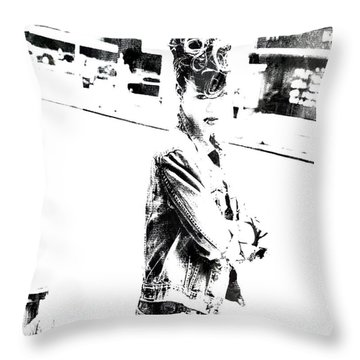 Rihanna Hanging Out Throw Pillow by Brian Reaves
