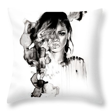 Rihanna Stay Throw Pillow by Molly Picklesimer