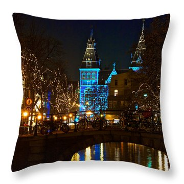 Rijksmuseum At Night Throw Pillow