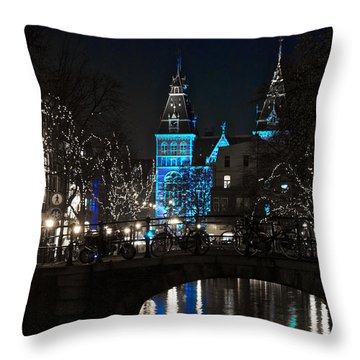Rijksmuseum In Blue Throw Pillow