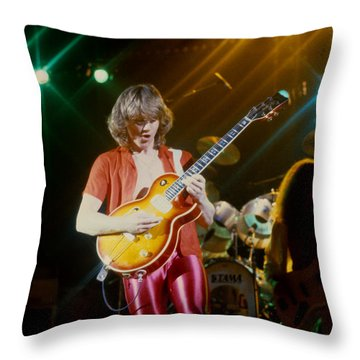 Rik Emmett Of Triumph At The Warfield Theater In San Francisco Throw Pillow