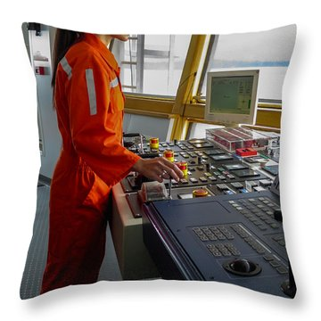 Rima Lumangtad Anchoring Z-drive Ship Throw Pillow