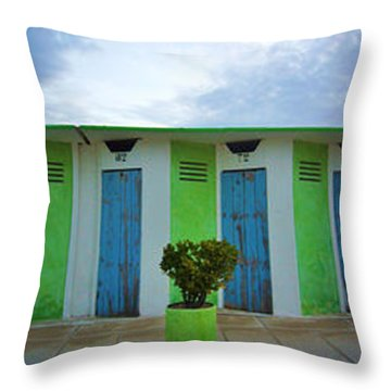 Rimini Beach Panorama Throw Pillow