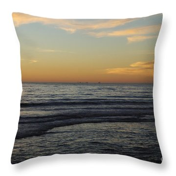 Rincon Ventura California  Throw Pillow by Gina Braget