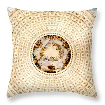 Ring Around The Capitol Throw Pillow