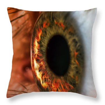 Ring Of Fire Throw Pillow