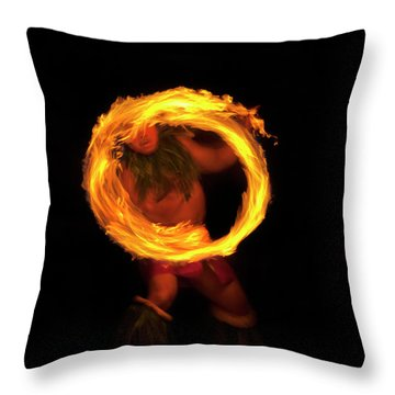 Ring Of Fire Throw Pillow by Mike  Dawson