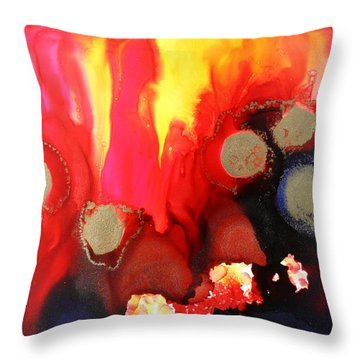 Ring Of Fire Throw Pillow by Tara Moorman