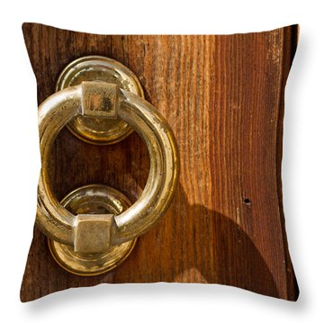Ring On The Door Throw Pillow